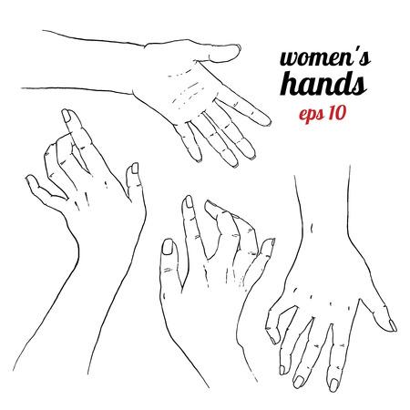 Dibujado a mano hermoso para su cuidado de las manos de dise�o