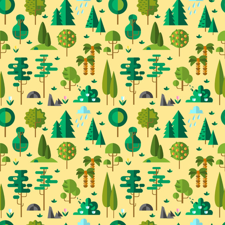 Seamless pattern wiht beautiful different floral elements