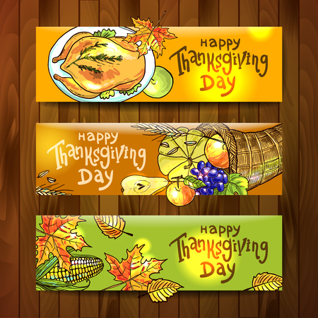 banners of thanksgiving food