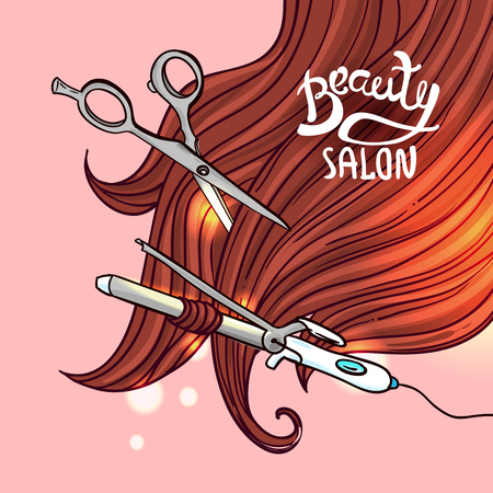 haircut: illustration haircut for your design