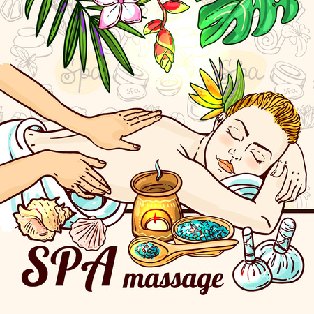 11,379 Spa Massage Stock Illustrations, Cliparts And Royalty Free ...
