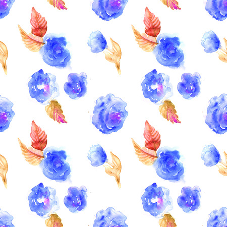 Flowers watercolor seamless pattern.  Mothers Day, wedding, birthday, Easter, Valentines Day. Pastel colors. Spring Summer