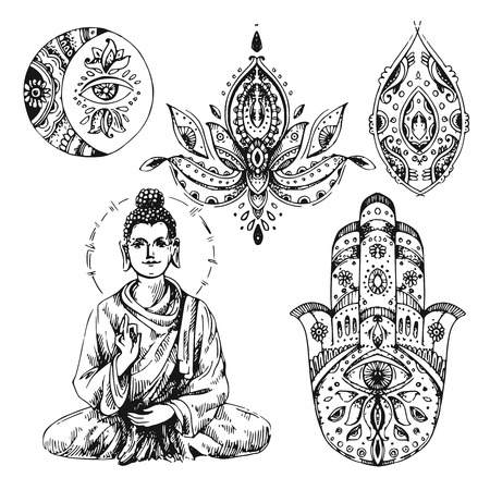 tantra: illustration  with buddha Illustration