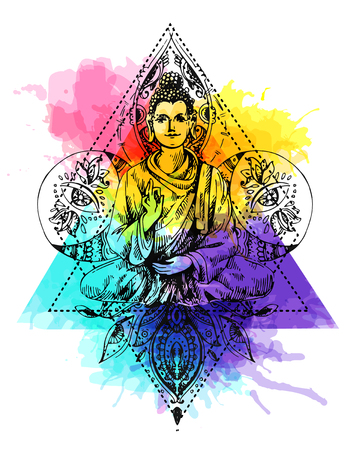 illustration  with buddha Illustration