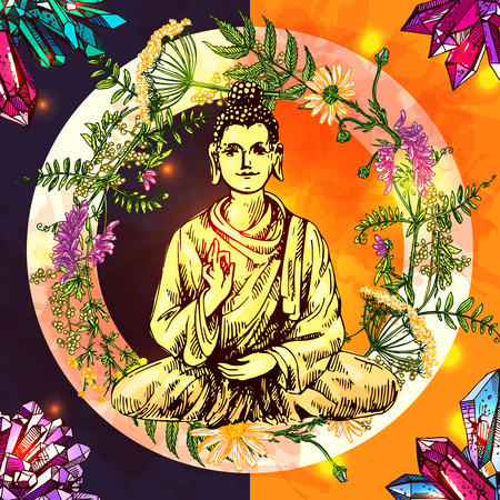 illustration  with buddha Illustration