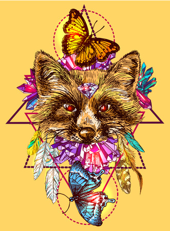 Illustration with fox.