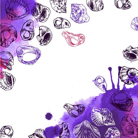 illustration  with sea shells