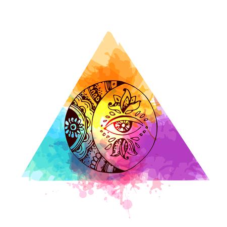 tatouage élément lune Vecteurs
