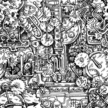 Steampunk style illustration Illustration