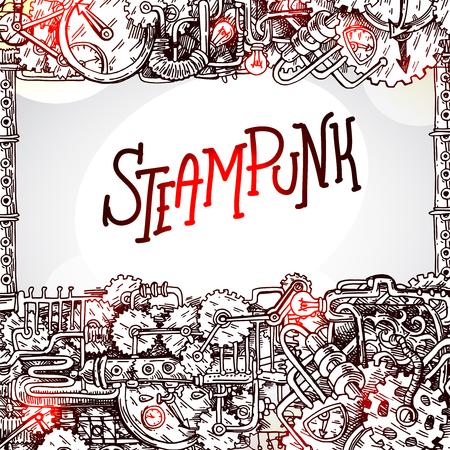 Steampunk style illustration Vector Illustration
