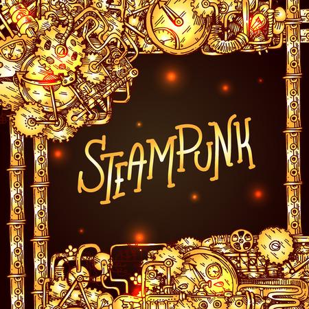 Steampunk style illustration