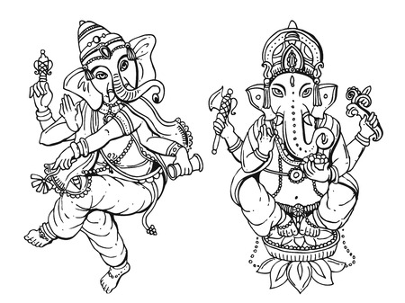 om: Vector illustration with Ganesha Illustration