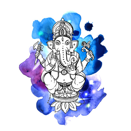 Vector illustration with Ganesha Illustration
