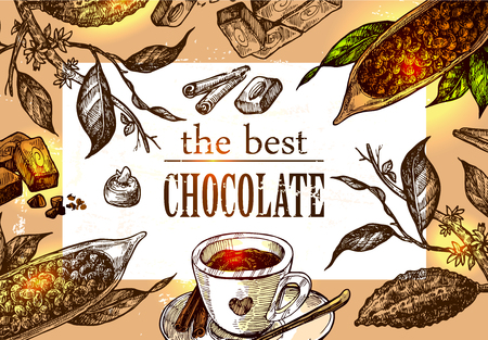 sketch  illustration chocolate