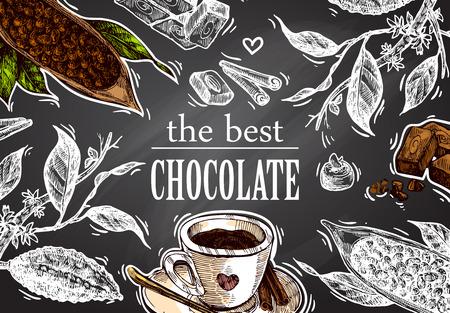 sketch  illustration chocolate
