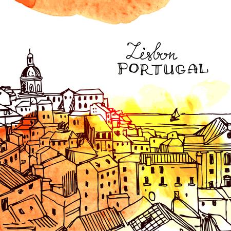 vector illustration Lisbon