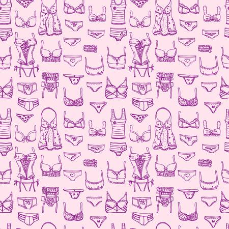 Hand drawn icons underwear