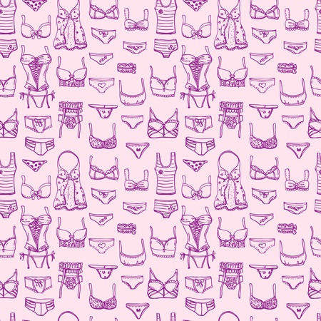 Hand drawn icons underwear Illustration