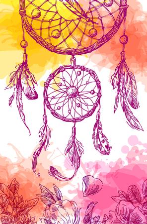 Illustration of dreamcatcher.