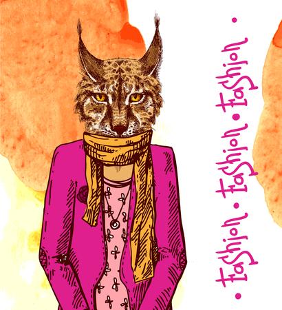 the lynx: Lynx in fashion look