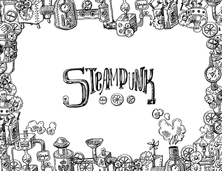 Vector Steampunk Frame Royalty Free Cliparts, Vectors, And Stock ...