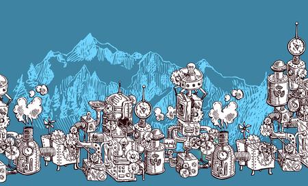 notched: sketch steampunk mechanism