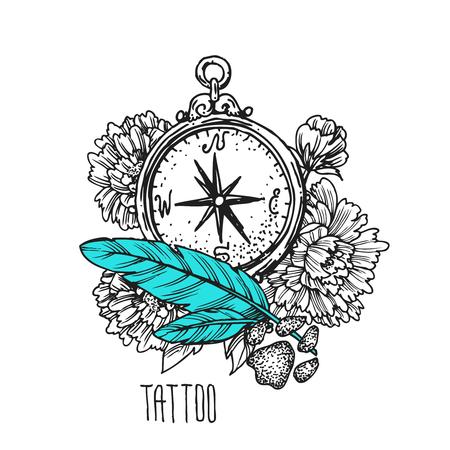 Illustration de tatouage Banque d'images - 78098549