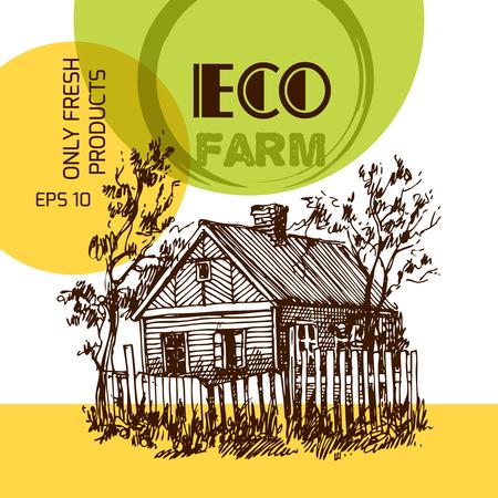 Illustration eco farm