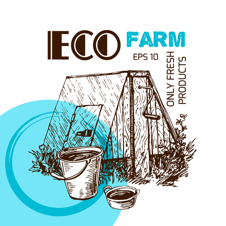 hamlet: Illustration eco farm