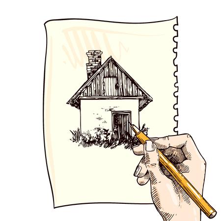 illustration country house Illustration
