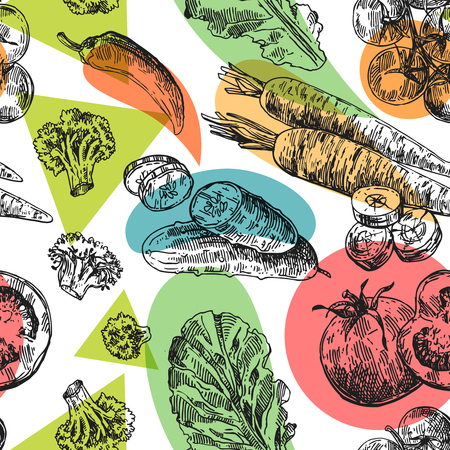 Beautiful hand drawn illustration vegetable.