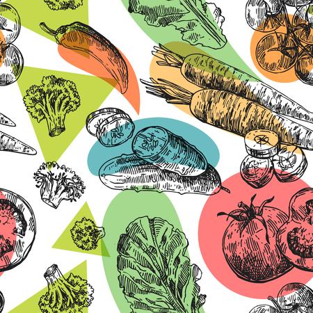 Schöne Hand gezeichnete Illustration Gemüse Standard-Bild - 92641085