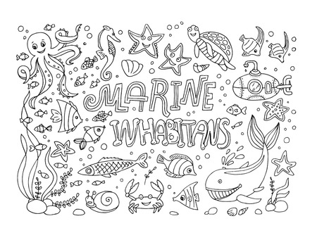 illustrations marine inhabitans