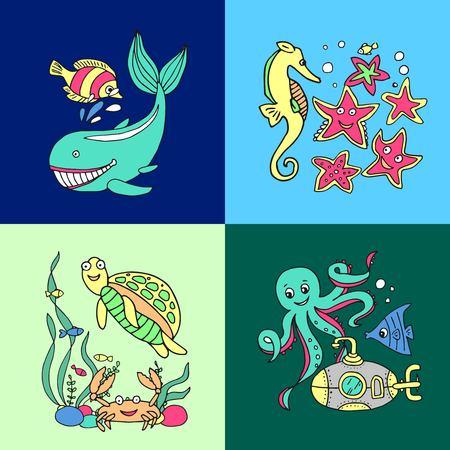 illustrations marine inhabitans