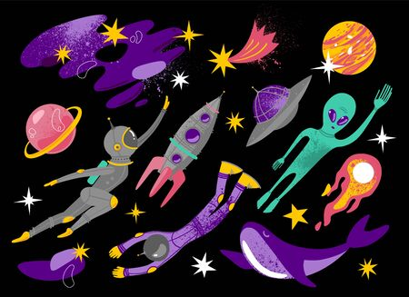 Space vector illustration. Space Galaxy print.