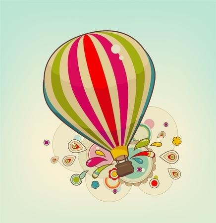 Kleurrijke lucht ballon in de lucht met patronen