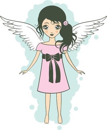 Pretty angel girl