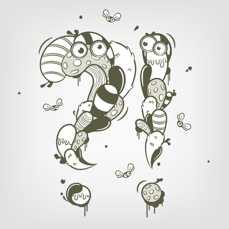 Cartoon question and exclamation marks Illustration