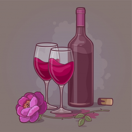 wine for two Illustration