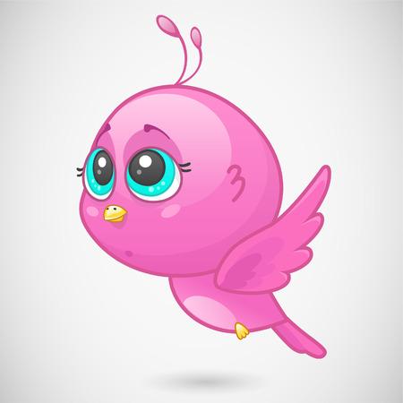 Cute pink bird
