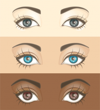 open eye: Illustration of woman eyes Illustration