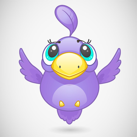 Cute bird character