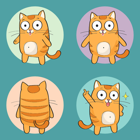 Cute cat character Illustration