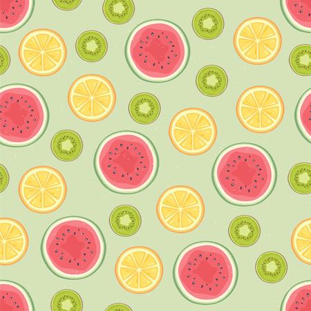 mixed fruits: Fruits seamless pattern