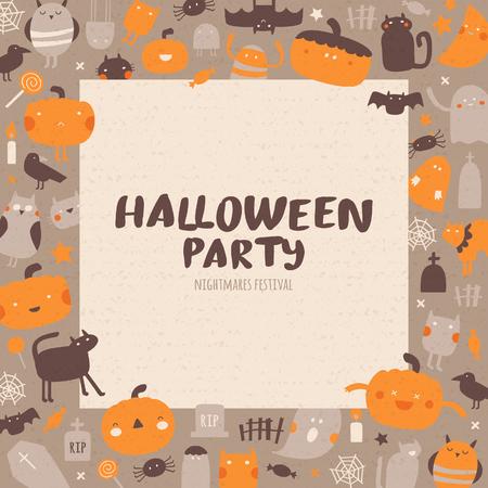 Halloween pattern. Illustration