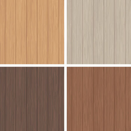 Wood seamless pattern set. Light and dark wooden texture. Vector illustration.