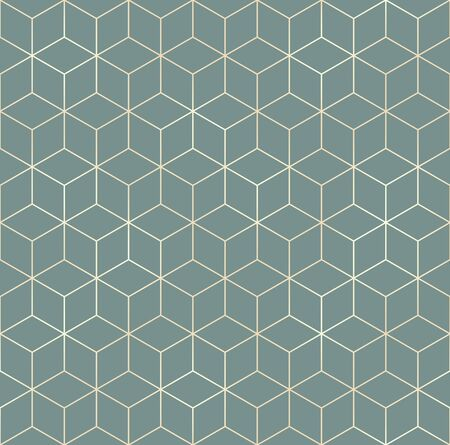 Vector seamless hexagon background. Geometric pattern grid with gold lines Standard-Bild - 133213255