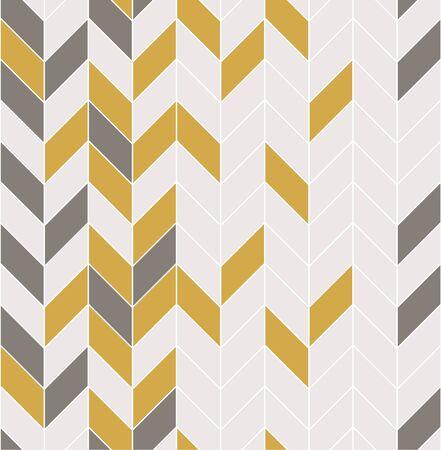 Vector seamless pattern with modern rectangular herringbone tiles. Geometric diagonal texture. Vector illustration