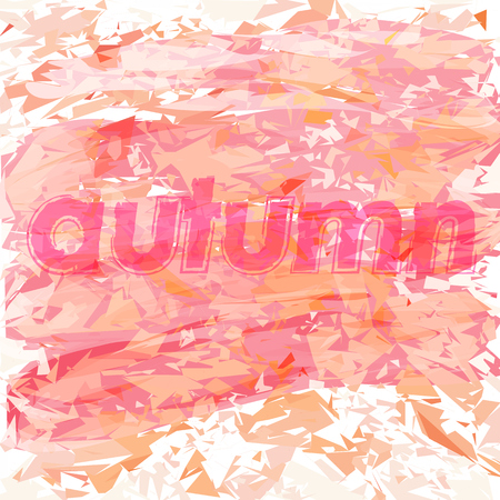 abstract background with the word autumn Ilustracja