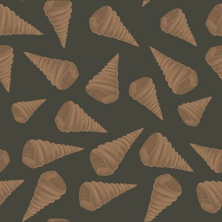 Shell pattern. Pencil drawing. Cover design. Illustration Imagens